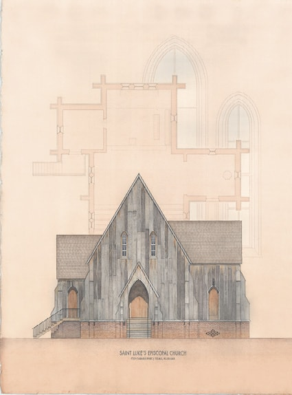 Watercolor of St. Luke's Episcopal Church